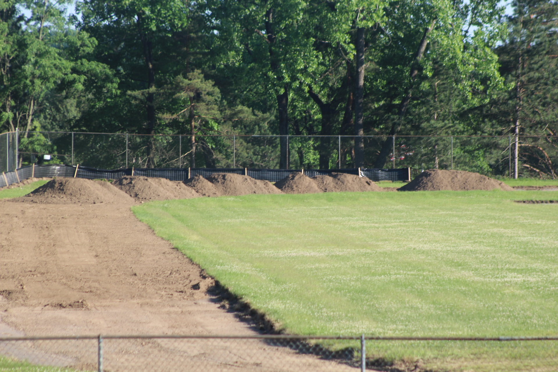 Removal of Running Track at Park Terrace Completed